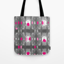 Shades of Gray, pink and white Tote Bag