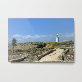 Lighthouse in Paphos Metal Print