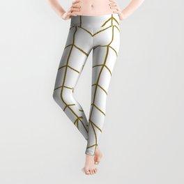 ART DECO IN WHITE Leggings