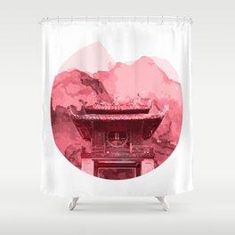 Vietnam Quoc Tu Giam Temple Hanoi capital Shower Curtain