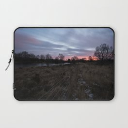 Winter Sunrise Over Chasewater Laptop Sleeve