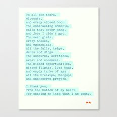 To all the... Canvas Print