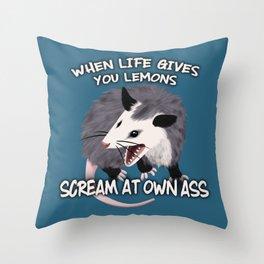 Possum Wisdom Throw Pillow