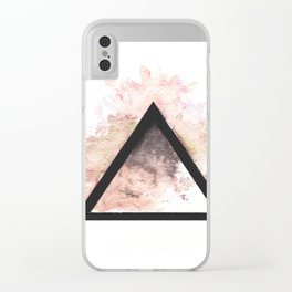 Abstract Triangle (Orange) Clear iPhone Case