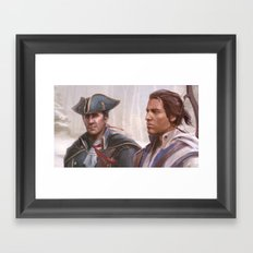 Assassin's Creed 3 - Connor and Haytham Framed Art Print