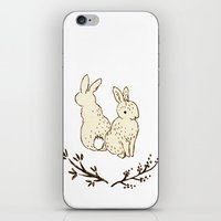 bunnies iPhone & iPod Skins featuring bunnies by itsbyrosie