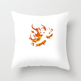 """A Science Experimantal Tee For Students Saying """"I Tried It At Home"""" T-shirt Design Fire Hot Sci-Fi Throw Pillow"""