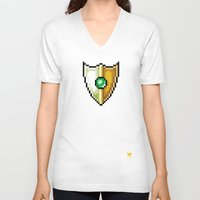 shield V-neck T-shirts featuring Shield by HOVERFLYdesign