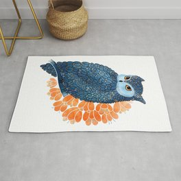 Blossoming owl Rug