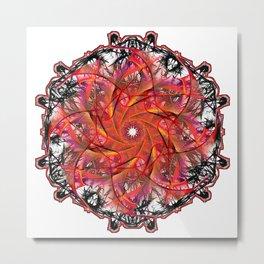 Red Webbing Metal Print