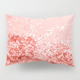 Sparkling Living Coral Lady Glitter #2 #shiny #decor #art #society6 Pillow Sham