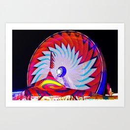 Ferris wheel saw Art Print