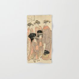 The Courtesans Maizumi Of The Daimonjiya Brothel Hand & Bath Towel