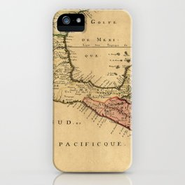 Map Of Central America 1656 iPhone Case