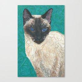 Vandal - The Siamese Cat Canvas Print