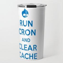 Run Cron and Clear Cache Travel Mug