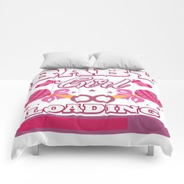 Baby Is Loading Girl Pregnancy Announcement Gift Comforters