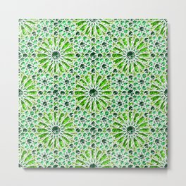 Geometric gemstones (emerald) Metal Print