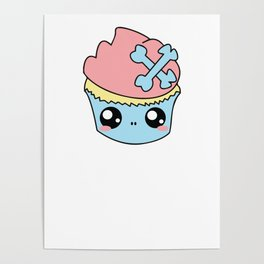Cupcake Skull Poster