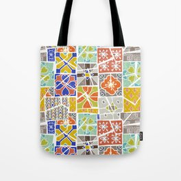 Barcelona tiles Tote Bag