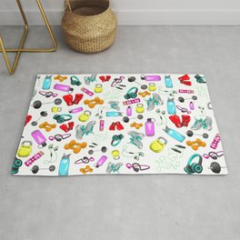 Work Out Items Pattern Rug