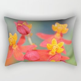 Succulent Red and Yellow Flower Rectangular Pillow