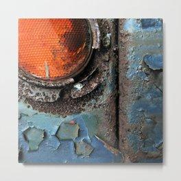 caution {deconstruction series Metal Print
