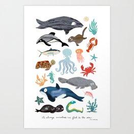 Sea Change: Ocean Animals Art Print