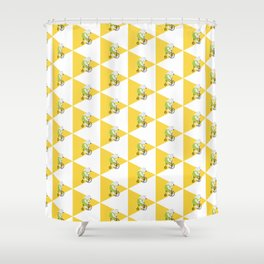 Cycling Polar Bear Triangle Shower Curtain