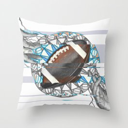 The perfect pass / American football Throw Pillow