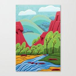 Canyon Flow Canvas Print