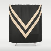 falcon Shower Curtains featuring White Falcon by PAAC design