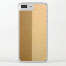 Imperfect Smooth VS Orange Peel Textures Minimalism Earth Tone Art - Corbin Henry Clear iPhone Case