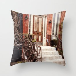 NYC Front Stoop Throw Pillow