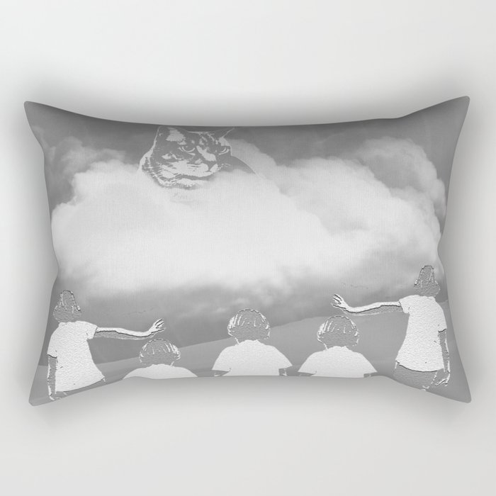 A Cat's Mind (black&white) Rectangular Pillow