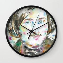 NIKOLAI GOGOL - watercolor portrait Wall Clock