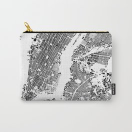 New York Map Schwarzplan Only Buildings Carry-All Pouch