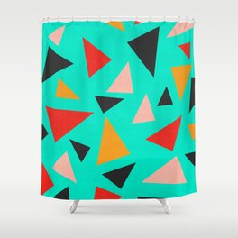 Modern geometry XVIII Shower Curtain