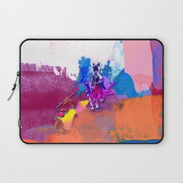 polo abstract red blue Laptop Sleeve