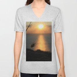 Peaceful Sunset Unisex V-Neck