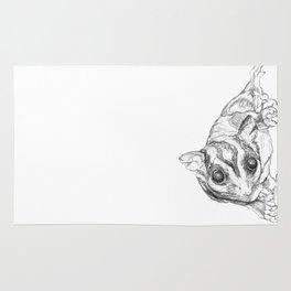 A Sketch :: A Sugar Glider Named Loki Rug