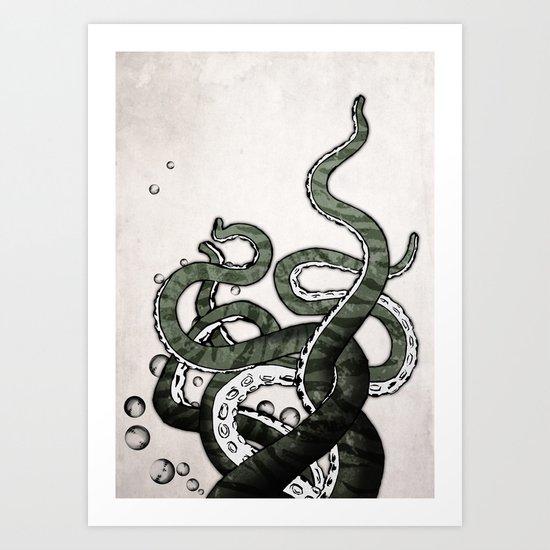 Octopus Tentacles Art Print