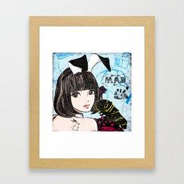 Black,Lemon,Brunette Framed Art Print