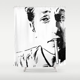 Engraving Bob Shower Curtain