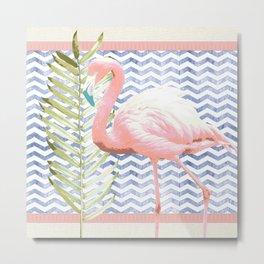 Flamingo Soiree Metal Print