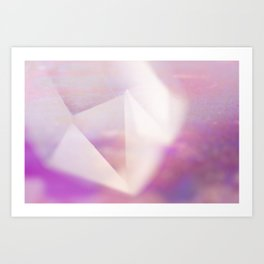 PASTEL CRYSTAL QUARTZ POINT Art Print