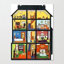 Vintage Doll House Canvas Print