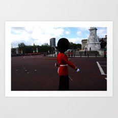 A Guard Stands to Attention 4 Art Print