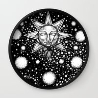 tarot Wall Clocks featuring Star Tarot by Corinne Elyse
