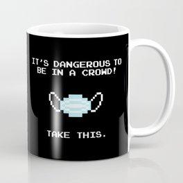 Pixel face mask Coffee Mug